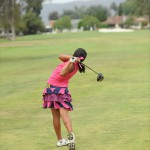 Kayla tees off SD Jr Masters 2013