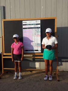 Girls both finish Under Par at Olivas Links